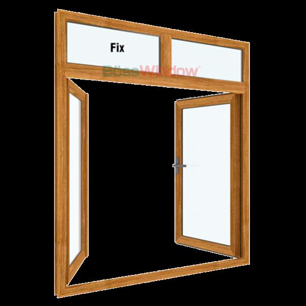 Cửa sổ 2 cánh mở quay + Fix - Hệ TJ55A