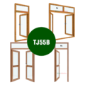Cửa đi + cửa sổ mở quay - Hệ TJ55B