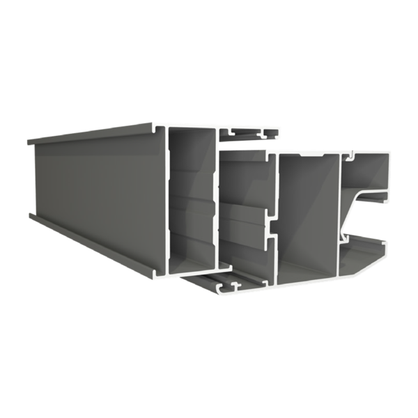Cửa sổ 1 cánh mở bật + vách - Hệ T45