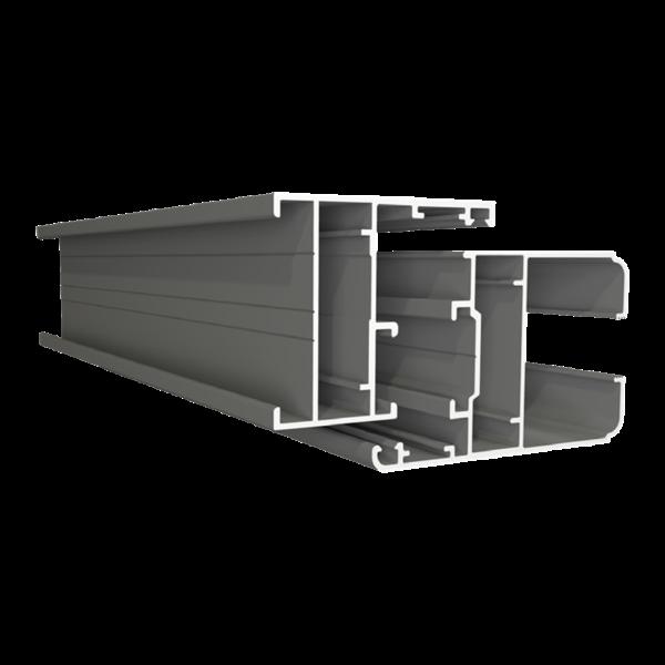 Cửa sổ 2 cánh mở quay + vách - Hệ V4400