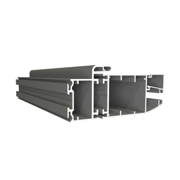 Cửa sổ 2 cánh mở quay + vách  - Hệ V450