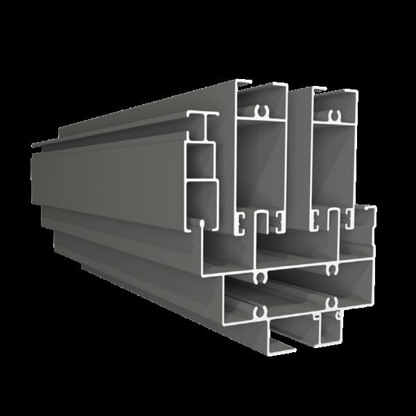 Cửa sổ 2 cánh mở trượt + vách - Hệ SL90