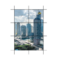 Vách kính thông tầng hệ dấu đố + cửa sổ - Hệ X65