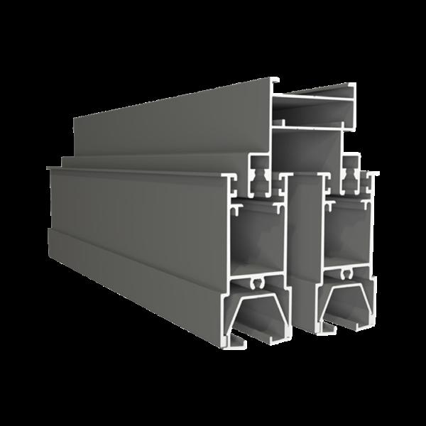 Cửa sổ mở trượt 4 cánh + vách  - Hệ V2600